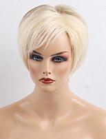 Fashionable Short Hair Oblique Bangs Human Hair Wigs