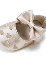 Baby Kids' Loafers & Slip-Ons First Walkers Synthetic Summer Fall Party & Evening Dress Casual Bowknot Flat HeelNude Light Green Almond Light