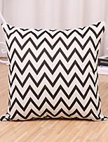 1 Pcs Fashion Sofa Cushion Cover Black And White Wave Stripe Pillow Cover Classic Pillow Case 45*45Cm