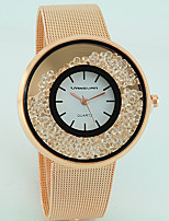 Women's Fashion Watch Quartz Imitation Diamond Alloy Band Casual Silver Gold Rose Gold