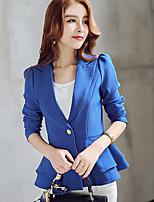 Women's Work Simple Fall Blazer,Solid V Neck Long Sleeve Short Cotton Tassel