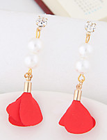 Women's Drop Earrings Imitation Pearl Euramerican Fashion Alloy Flower Jewelry For Party 1 Pair