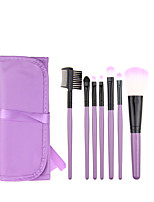 7pcs Violet Makeup Brush Set Blush Brush Eyeshadow Brush Eyeliner Brush Eyelash Brush dyeing Brush Powder Brush Sponge Applicator Synthetic Hair