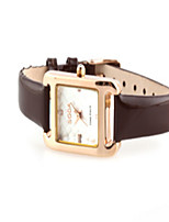 Women's Fashion Watch Quartz Leather Band Black White Brown
