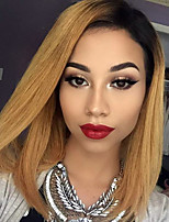 Ombre T1B/27 Brazilian Virgin Hair Bob Wigs Straight Lace Front Human Wigs Short Virgin Remy Hair Bob Wig with Baby Hair