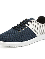 Men's Sneakers Comfort Breathable Mesh Tulle Spring Casual Black Gray Blue Flat