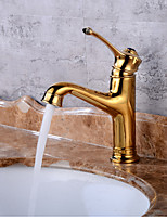CentersetCeramic ValveGold , Bathroom Sink Faucet