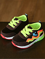 Boys' Athletic Shoes Light Soles PU Spring Fall Casual Walking Light Soles Flat Heel Black Orange Flat