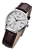 Women's Fashion Watch Japanese Quartz Calendar Water Resistant / Water Proof Leather Band Casual Black Silver Brown