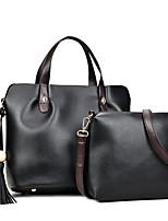 Donna sacchetto regola PU (Poliuretano) Per tutte le stagioni Cerniera Bianco Nero Rosso Grigio