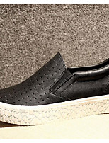 Men's Loafers & Slip-Ons Tulle PU Spring White Black Gray Flat
