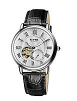 Муж. Часы со скелетом Модные часы Механические часы С автоподзаводом Кожа Группа Черный Коричневый