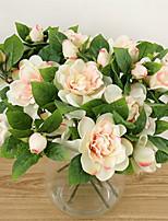 1 Ramo Seda Gardênia Flor de Mesa Flores artificiais