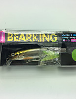 Trulinoya DW43/A  1 pcs Hard Bait Hard Bait Minnow Brown silver body 7.2g g/1/4 oz. Ounce88mm mm/3-1/2 inchSoft Plastic Metal Hard Plastic