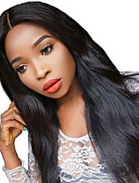 Human Virgin Hair Glueless Full Lace Remy Straight Natural Black Color Lace Wig with Baby Hair For Black Women