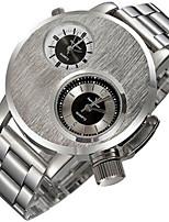 Masculino Relógio Esportivo Relógio de Moda Quartzo Lega Banda Preta Prata