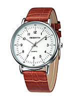 REBIRTH  Women's Fashion Watch Chinese Quartz Leather Band Black Red Brown