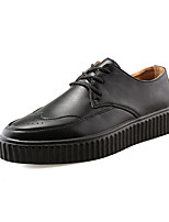 Men's Loafers & Slip-Ons Comfort PU Spring Summer Wedding Outdoor Office & Career Flat Heel Gray Black Flat