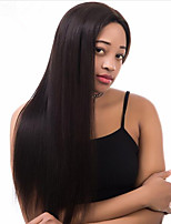 360 Lace Wig Human Virgin Hair 130% Density Black Color Remy Straight Wig with Baby Hair