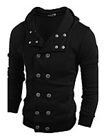 Men's Casual/Daily Hoodie Leopard Round Neck strenchy Cotton Long Sleeve Spring, Fall, Winter, Summer