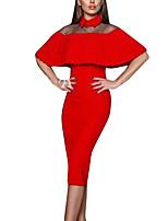 Для женщин На выход На каждый день Офис Лето Осень Блузка Платья Костюмы Рубашечный воротник,Сексуальные платья просто Цветовые блоки