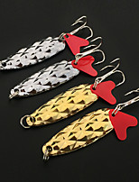 4 pcs Hard Bait Fishing Lures Hard Bait Silver gold black back g/Ounce mm inch,Hard Plastic Bait Casting Lure Fishing