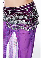 Belly Dance Hip Scarves Women's Performance Sequin Flannel Belt Beading Sequin Tassel(s) Paillettes 1 Piece Hip Scarf