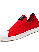 Men's Loafers & Slip-Ons Comfort Light Soles Tulle Summer Fall Casual Red Dark Blue 1in-1 3/4in