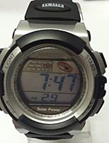 Homens Relógio Esportivo Chinês Digital Calendário Noctilucente Borracha Banda Casual Preta