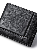 Men Wallets Genuine Leather Short Black Purse High Quality Cowhide Money Bag Casual Credit Card Wallet D6016-3