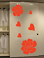 Wall Stickers Wall Decas Style Flower Closet Decoration PVC Wall Stickers