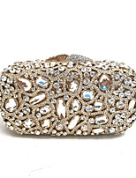 Lady Delicate Rhinestone Glass Hollow Clutches Evening Bag