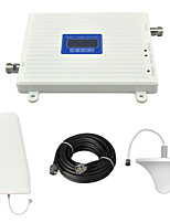 LCD Display 2G GSM980 900Mhz Mobile Phone Signal Booster GSM Signal Repeater with Ceiling Antenna / Log Periodic Antenna / Cable / White