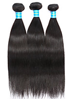 Vinsteen Peruvian Hair Bundles 3Pieces Straight 16-24 Inch Human Hair Extensions Natural Black Human Hair Weaves Thick Ends Human Hair Weft
