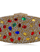 Women Evening Bag Polyester Special Material All Seasons Spring Formal Casual Event/Party Wedding MinaudiereAcrylic Jewels Crystal  Handbag Clutch