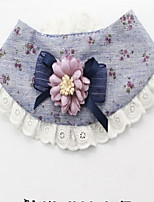 Dog Tie/Bow Tie Dog Clothes Casual/Daily Floral/Botanical Blushing Pink Blue Yellow