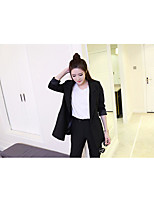 Women's Casual/Daily Street chic Sophisticated Spring Hoodie Skirt Suits,Polka Dot One Shoulder Short Sleeve Polyester Micro-elastic