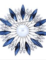 נשים תפס לשיער ריינסטון סגנון פרח סגסוגת Flower Shape תכשיטים ל חתונה Party אירוע מיוחד Halloween יומי