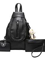 Women Backpack PU Fall Casual Bucket Zipper Zipper Black Normal