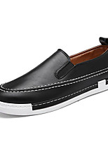 Men's Loafers & Slip-Ons Comfort PU Spring Casual Black Gray Yellow Flat