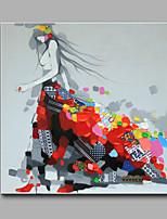 Ручная роспись ЛюдиСовременный 1 панель Hang-роспись маслом For Украшение дома
