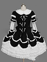 One-Piece/Dress Sweet Lolita Lolita Cosplay Lolita Dress Vintage Cap Long Sleeve Short / Mini Dress For