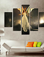Art Print Abstract Portrait Classic,Five Panels Horizontal Print Wall Decor For Home Decoration