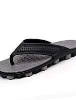 Men's Slippers & Flip-Flops Light Soles PU Summer Outdoor Flat Heel Light Green Red Gray Flat