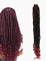 dreadlocks Faux Dreads Crochet faux dreads Dreadlock Extensions Kanekalon Noir / Blond Fraise Noir / Bourgogne Noir Extensions de cheveux