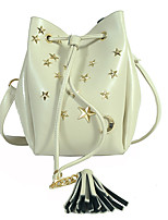 Women Shoulder Bag PU All Seasons Formal Casual Event/Party Wedding Office & Career Barrel Toggle Black White