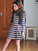 Girl's Nautical Dress,Rayon Winter Long Sleeve