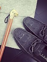 Men's Sneakers Comfort PU Tulle Spring Casual Khaki Gray Black Flat