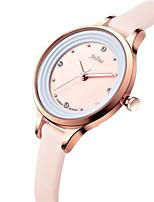 Mulheres Relógio de Moda Japanês Quartzo Impermeável Couro Banda Preta Branco Azul Marrom Rosa