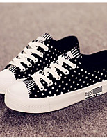 Women's Sneakers Comfort Canvas Spring Casual Ruby Black White Flat